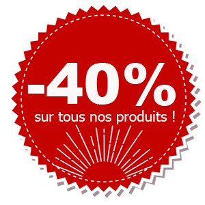 Promo -40% sur tous nos produits